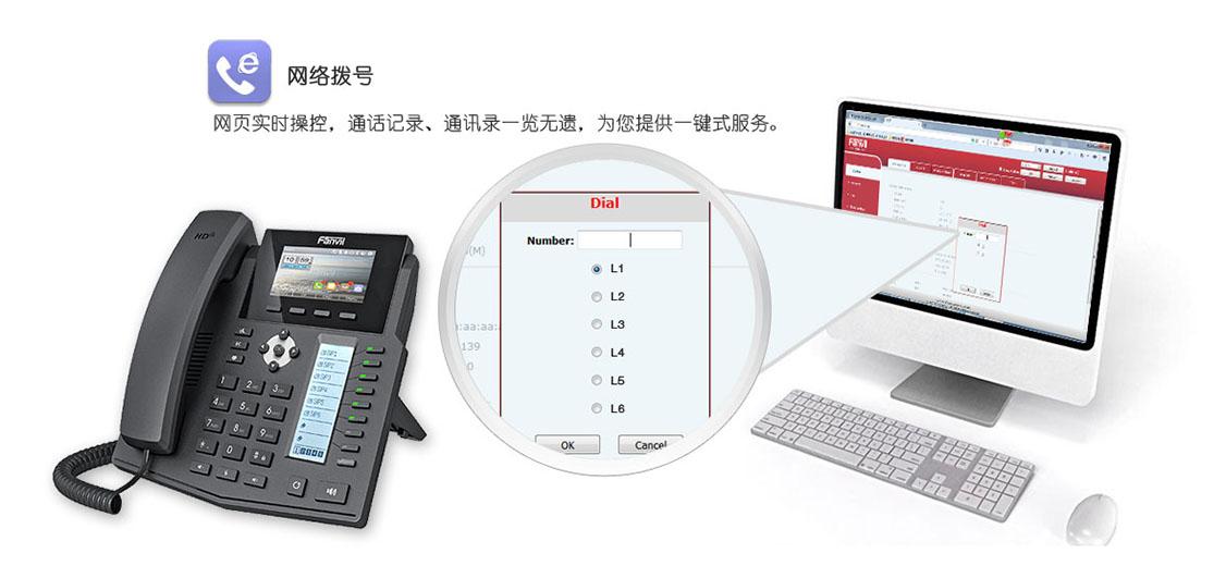 方位IP电话机X5S网络拨号